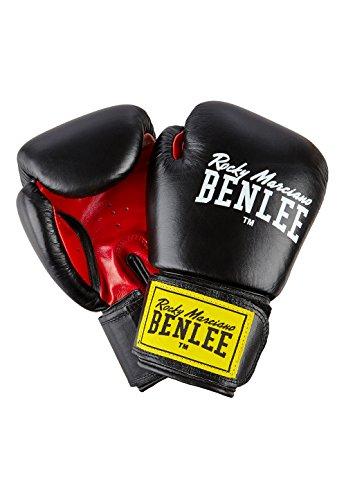 BENLEE Boxhandschuhe Rocky Marciano Fighter (Schwarz/ Rot, Größe: 14 oz)