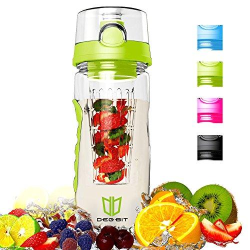 DEGBIT Wasserflasche [BPA-freiem Tritan] aus Kunststoff im Test