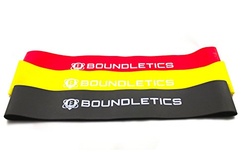 Boundletics 3er Set Loop-Bands aus Naturkautschuk