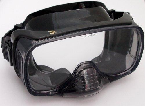 M-12 Tauchermaske Taucherbrille mit Ausblasventil (BS-Schwarz)