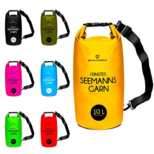 DoYourOutdoor Dry Bag Seemann 10 Liter Version in Schwarz