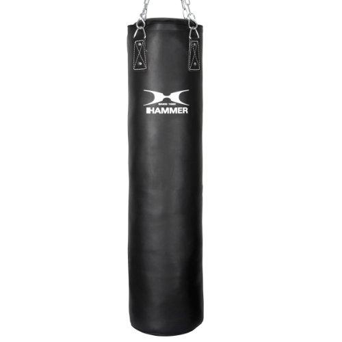 Hammer Boxsack Kick (Kunstleder, Schwarz, 120 cm, 93212)