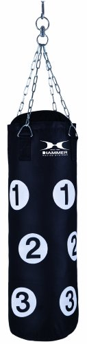 Hammer Boxsack Home-Fit Sparring Partner (schwarz, 28 x 80 cm)