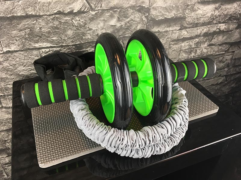 Bauchroller Test Sportastisch Extreme Ab Roller Bauchtrainer Knieauflage Gummiband
