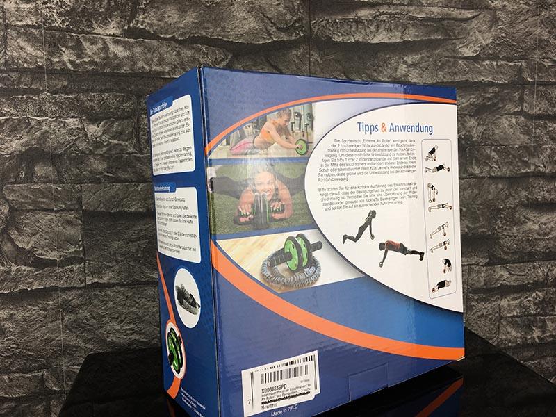 Bauchroller Test Sportastisch Extreme Ab Roller Bauchtrainer Verpackung Rückseite