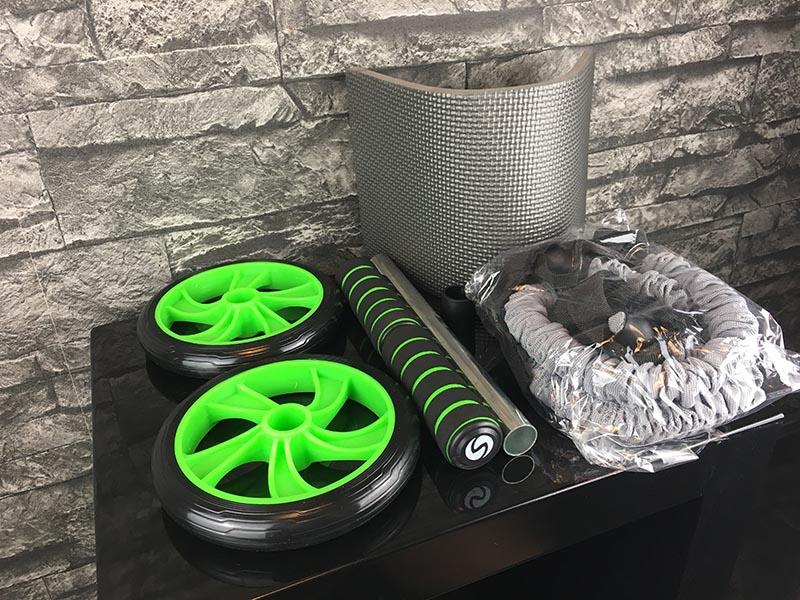 Bauchroller Test Sportastisch Extreme Ab Roller Bauchtrainer Verpackungsinhalte