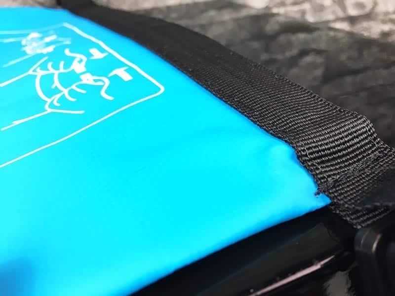 Dry Bag Test - wasserdichter Packsack DoYourOutdoor 5 Liter blau Naht