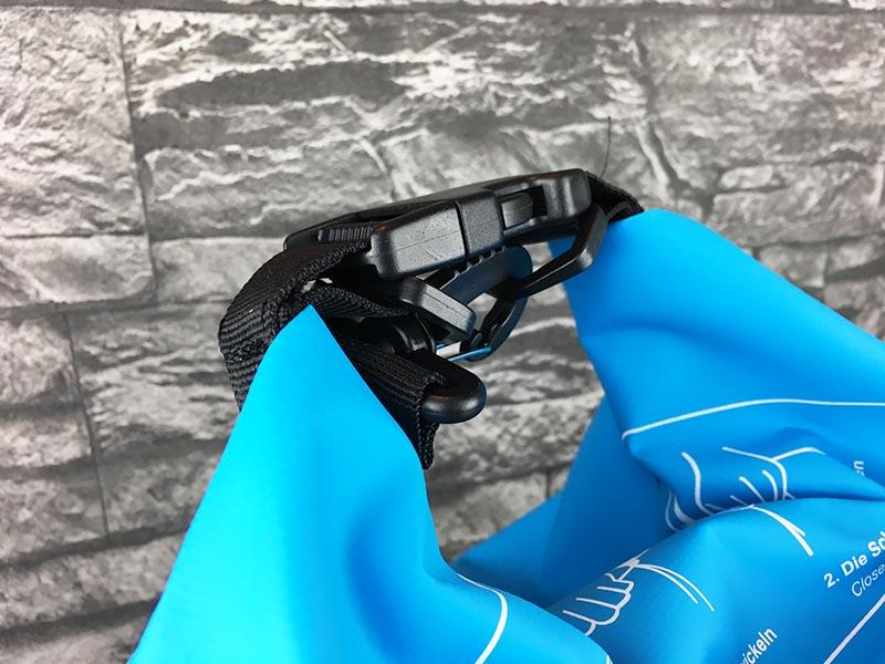 Dry Bag Test - wasserdichter Packsack DoYourOutdoor 5 Liter blau Schnalle oben