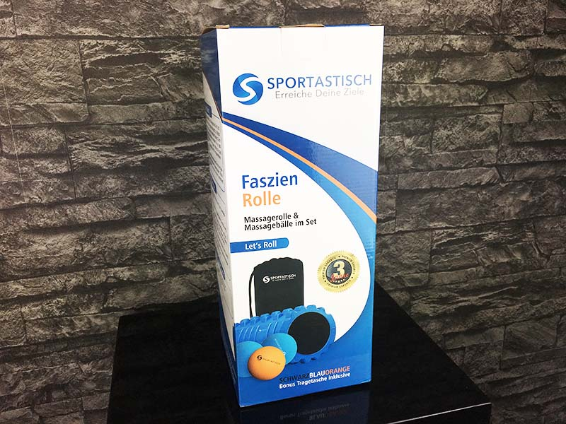 Faszienrolle Test Sportastisch Lets Roll Verpackung