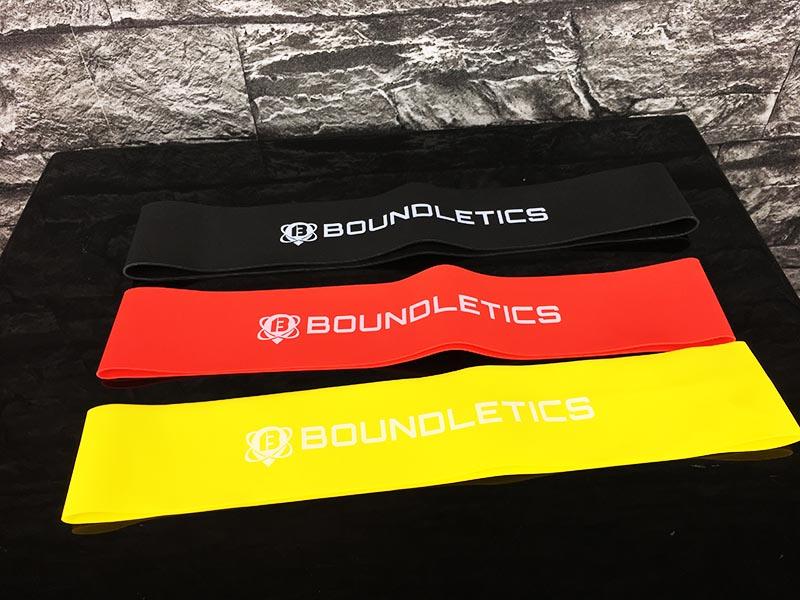 Fitnessband Test Boundletics 3er Set Loop-Bands aus Naturkautschuk Gesamtübersicht