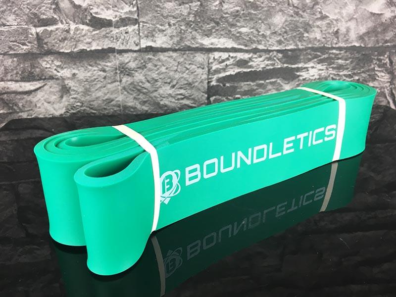 Fitnessband Test Boundletics grün 20 bis 55 kg Gesamtansicht
