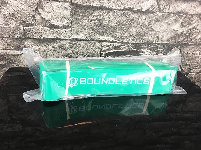 Fitnessband Test Boundletics grün 20 bis 55 kg Verpackung