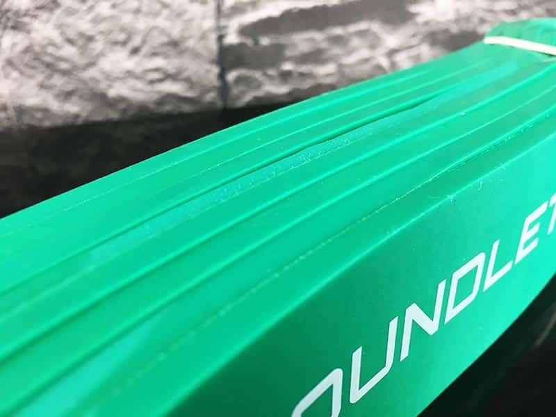 Fitnessband Test Boundletics grün 20 bis 55 kg seitliches Profil