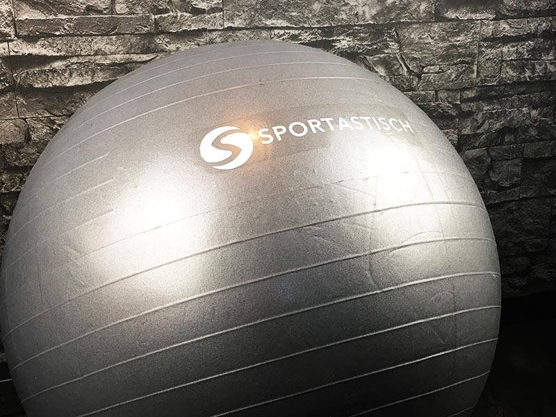 Gymnastikball Test Sportastisch Workout Ball Bodenring Logo