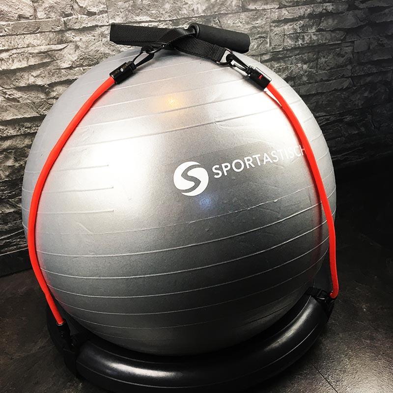 Gymnastikball Test Sportastisch Workout Ball Bodenring Widerstandbänder fertig