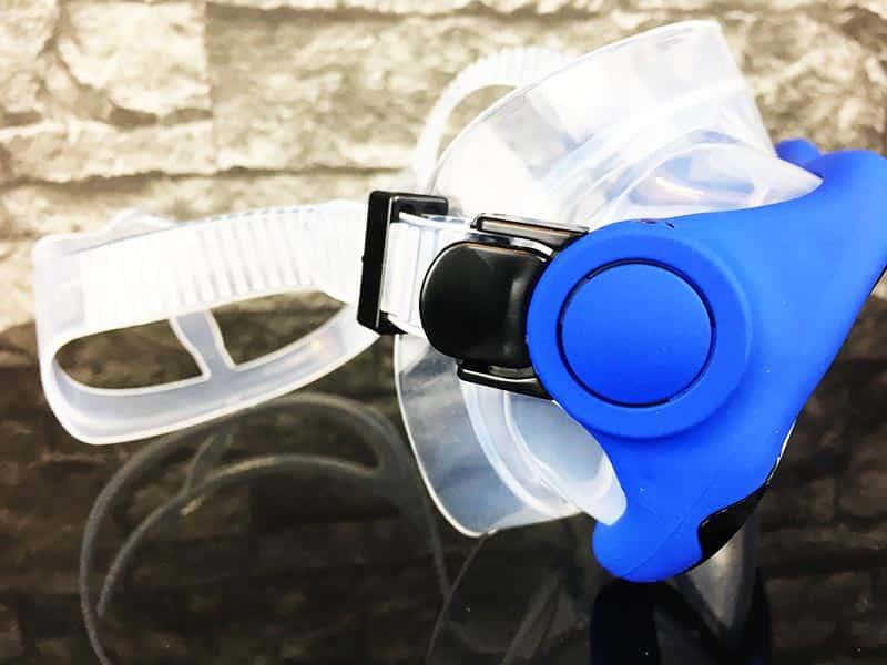 Schnorchelset Test Sportastisch Snorkel Star Blau seitliche Ansicht