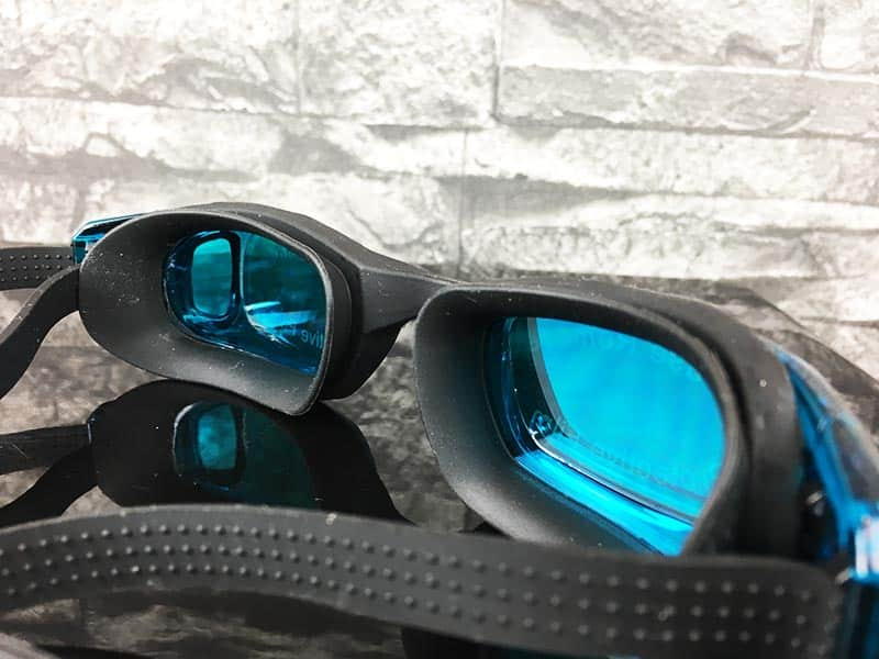 Schwimmbrille Test Sportastisch Torpedo Brille hintere Ansicht