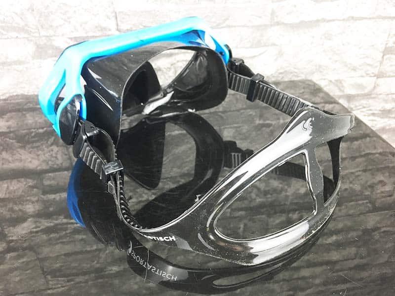 Taucherbrille Test Sportastisch Dive Under hintere Ansicht Gummiband