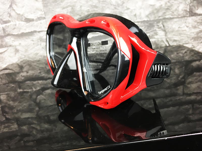 Taucherbrille Test Sportastisch Redfish Rot Gesamtansicht