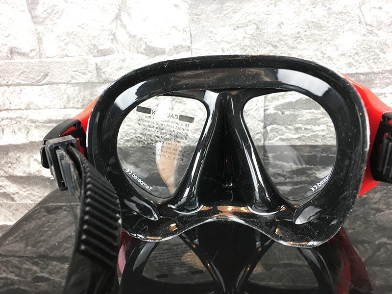 Taucherbrille Test Sportastisch Redfish Rot Öffnung