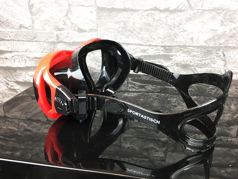 Taucherbrille Test Sportastisch Redfish Rot seitlich von hinten
