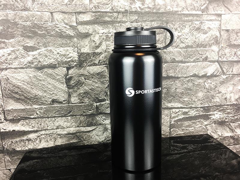 Trinkflaschen Test Sportastisch Hydro Boost Schwarz Gesamtansicht