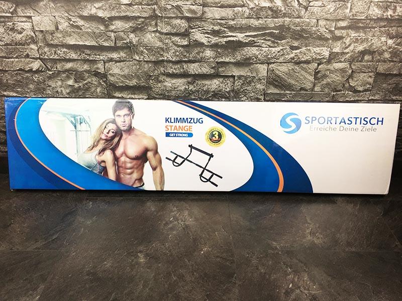 Türreck Test Premium Klimmzugstange Get Strong Sportastisch Verpackung