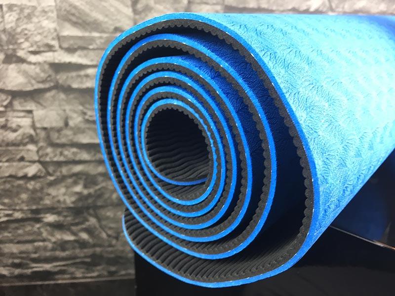 Yogamatte Test Sportastisch Yoga Star Blau Seitenansicht