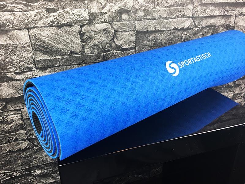 Yogamatte Test Sportastisch Yoga Star Blau ausgepackt
